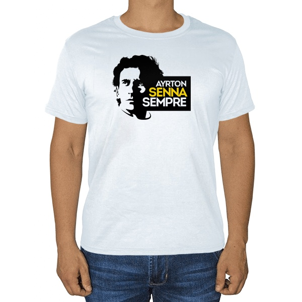 Айртон Сенна, белая футболка