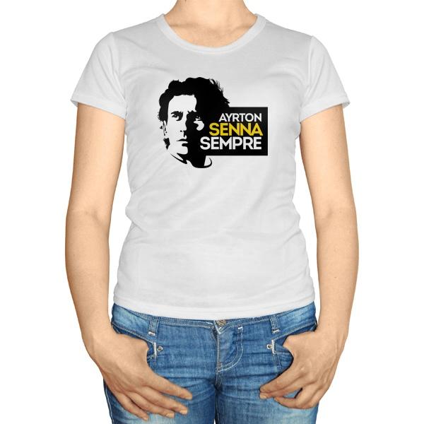Женская футболка Айртон Сенна