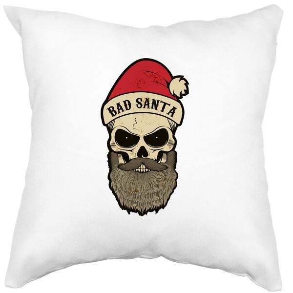 Подушка белая Bad Santa