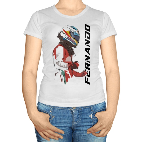 Женская футболка Фернандо Алонсо