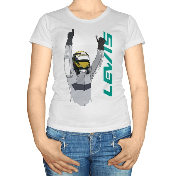 Женская футболка Льюис Хэмилтон