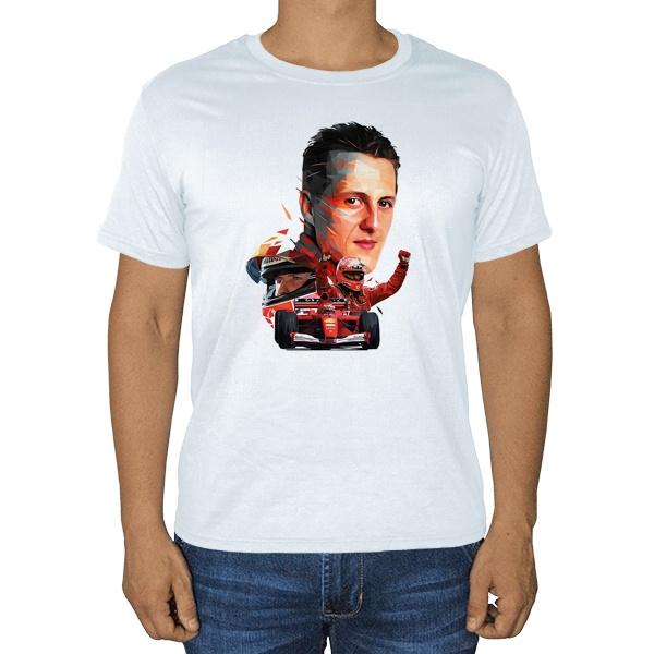 Михаэль Шумахер, белая футболка
