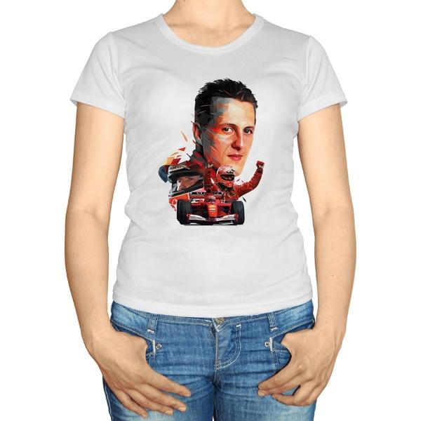 Женская футболка Михаэль Шумахер