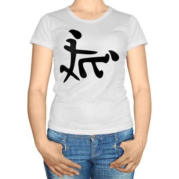 Женская футболка Иероглиф Секс