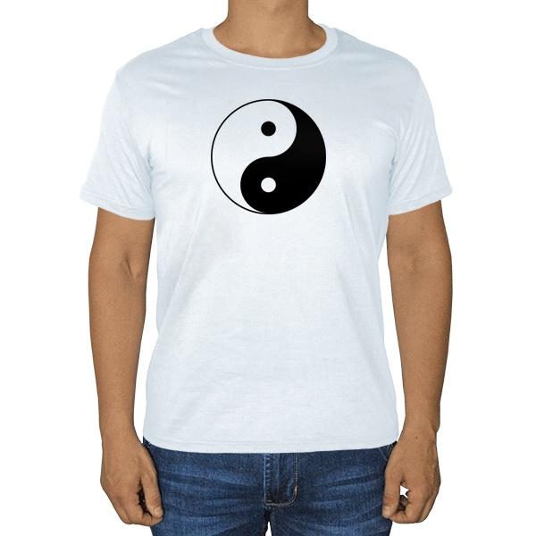 Инь Ян, белая футболка