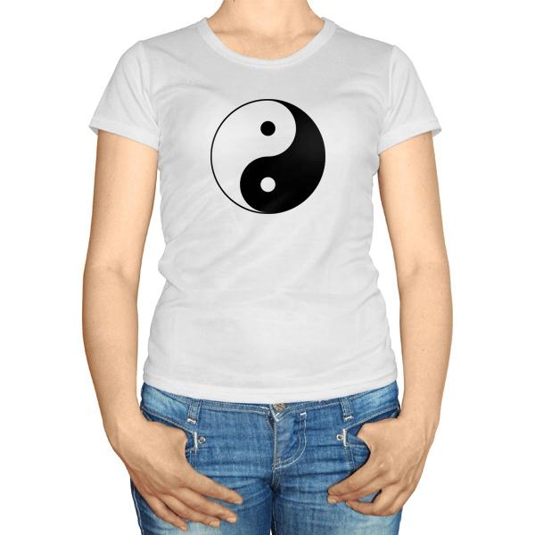 Женская футболка Инь Ян