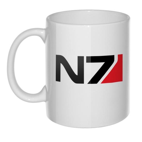 Кружка N7, цвет белый