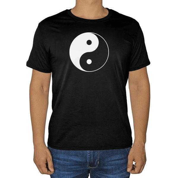 Черная футболка Инь Ян