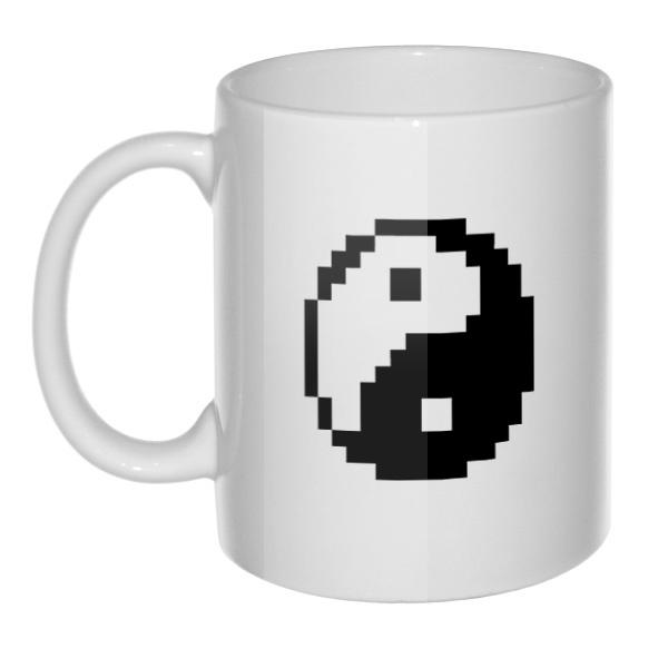 Кружка Пиксельный Инь Ян
