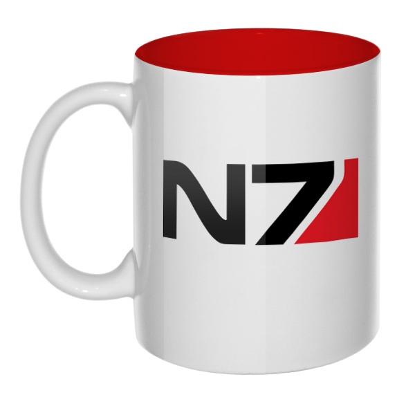 Кружка цветная внутри N7