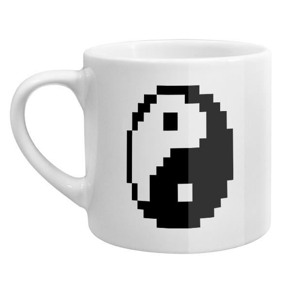 Кофейная чашка Пиксельный Инь Ян