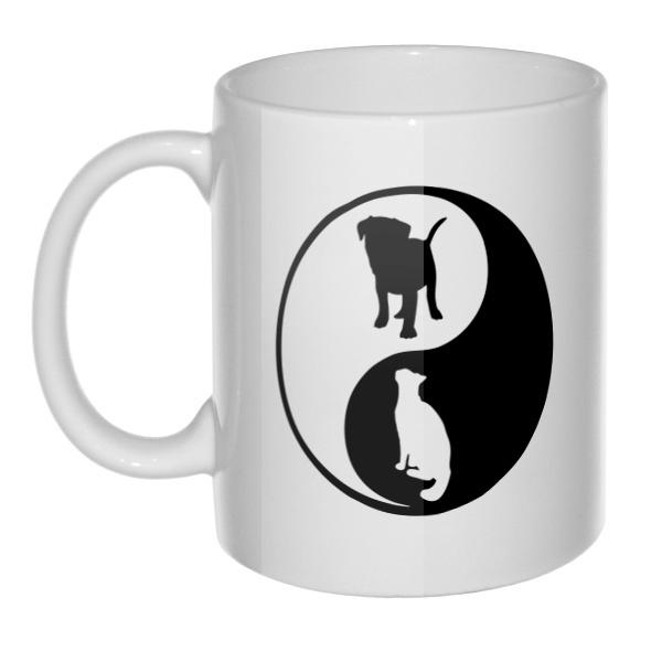 Кружка Собака и кошка Инь Ян