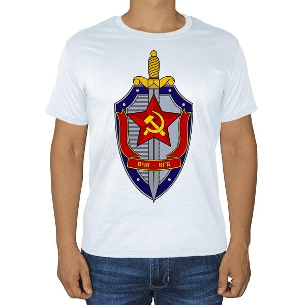 Белая футболка ВЧК КГБ