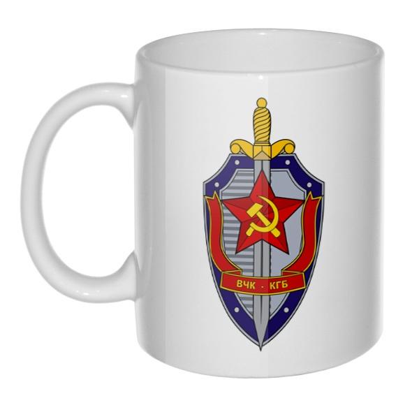 Кружка ВЧК КГБ, цвет белый