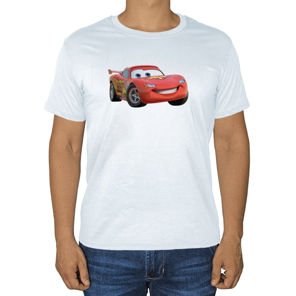 Молния Маккуин, белая футболка