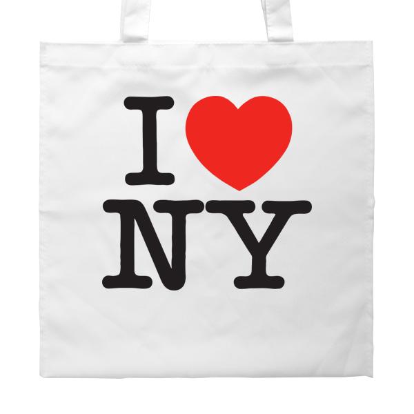 Белая сумка I love NY