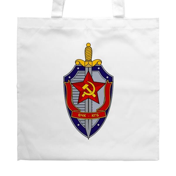 Белая сумка ВЧК КГБ, цвет белый
