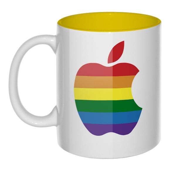 Apple Rainbow, кружка цветная внутри