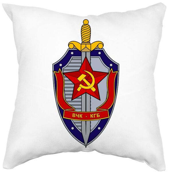 Подушка белая ВЧК КГБ, цвет белый