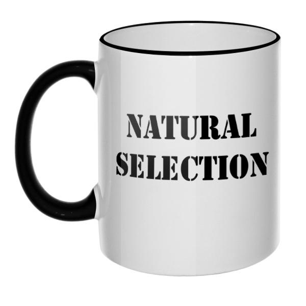 Кружка Natural Selection с цветным ободком и ручкой, цвет черный