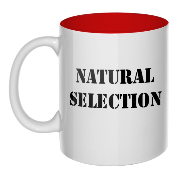Кружка цветная внутри Natural Selection