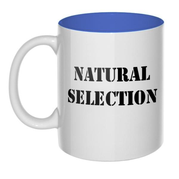 Кружка цветная внутри Natural Selection, цвет лазурный