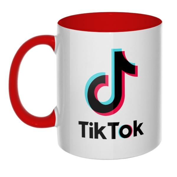 Tik Tok, кружка цветная внутри и ручка