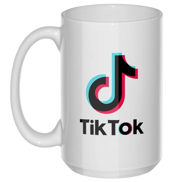 Tik Tok, большая кружка с круглой ручкой