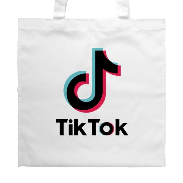 Белая сумка Tik Tok