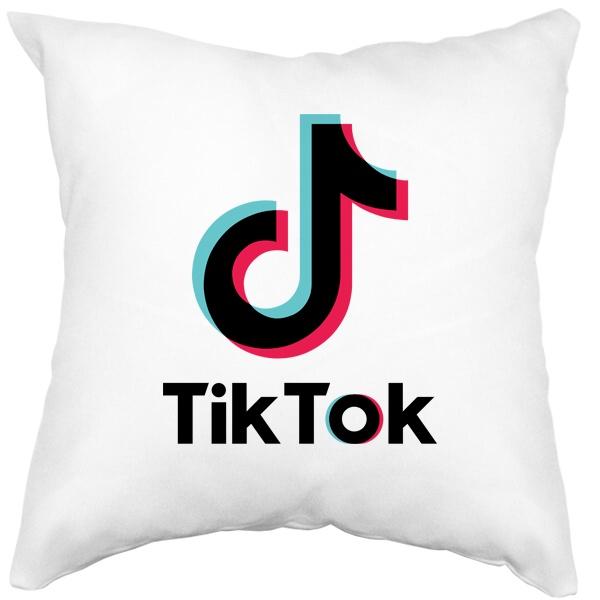 Подушка белая Tik Tok