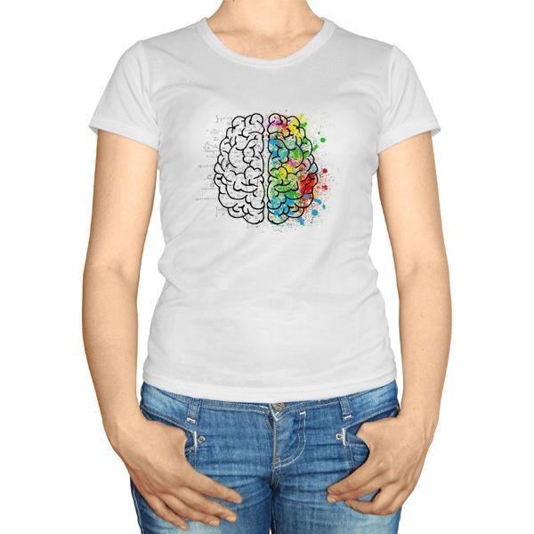 Женская футболка Полушария мозга