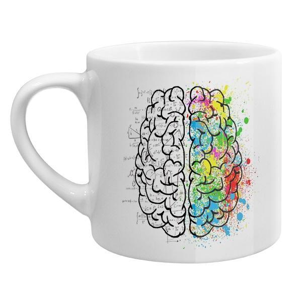 Кофейная чашка Полушария мозга