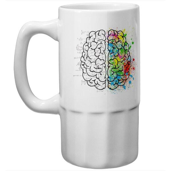 Пивная кружка Полушария мозга