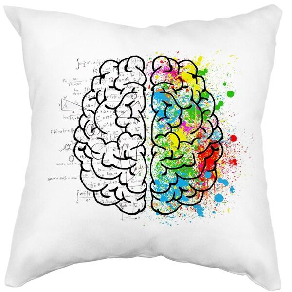 Подушка белая Полушария мозга