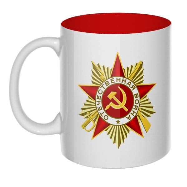Орден Отечественной войны, кружка цветная внутри