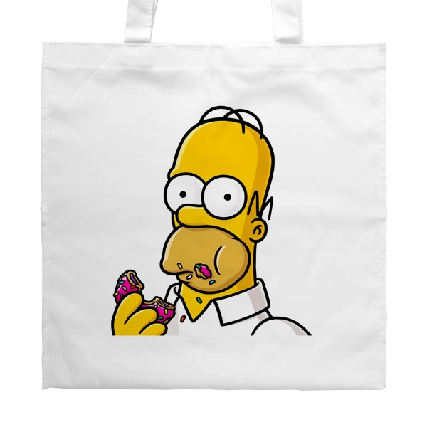 Белая сумка Гомер Симпсон, цвет белый