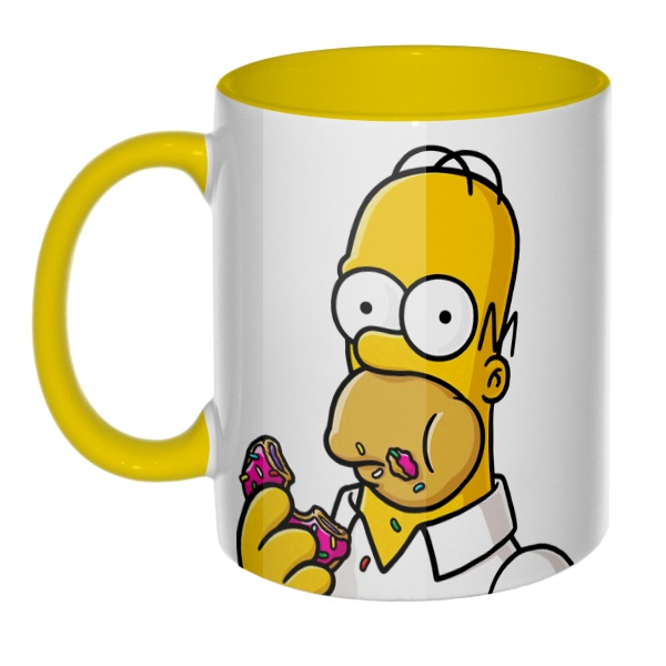 3D-кружка Гомер Симпсон цветная внутри и ручка