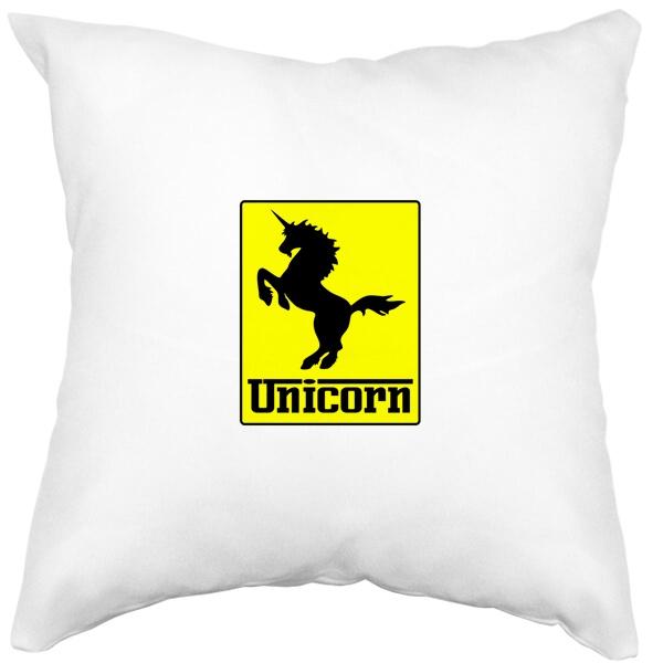 Подушка белая Unicorn (стилизация Ferrari)