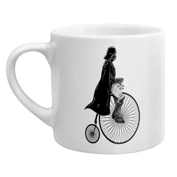 Кофейная чашка Дарт Вейдер на велосипеде