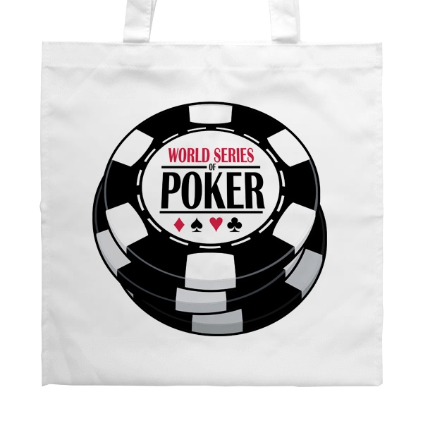 Белая сумка World Series of Poker