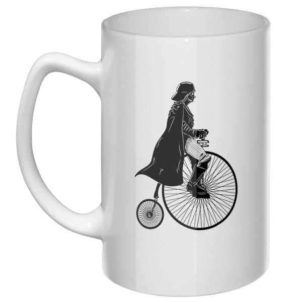 Большая кружка Дарт Вейдер на велосипеде