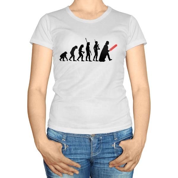 Женская футболка Эволюция Дарта Вейдера