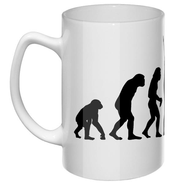Большая кружка Эволюция Дарта Вейдера, цвет белый