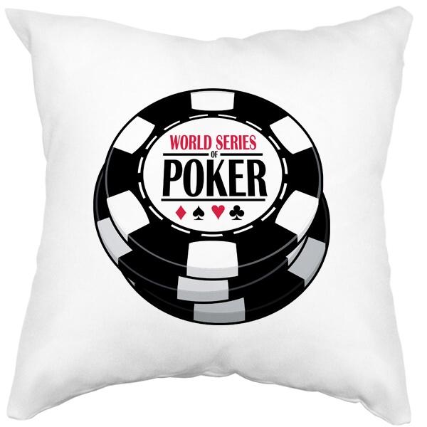 Подушка белая World Series of Poker