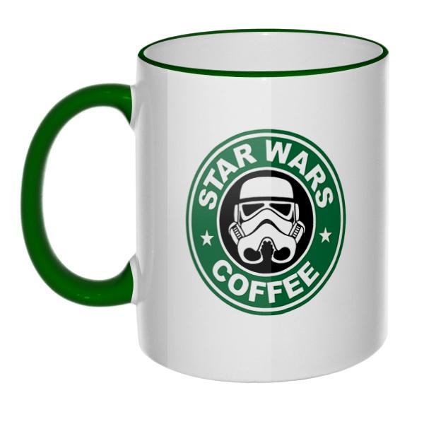 Кружка Star Wars Coffee с цветным ободком и ручкой