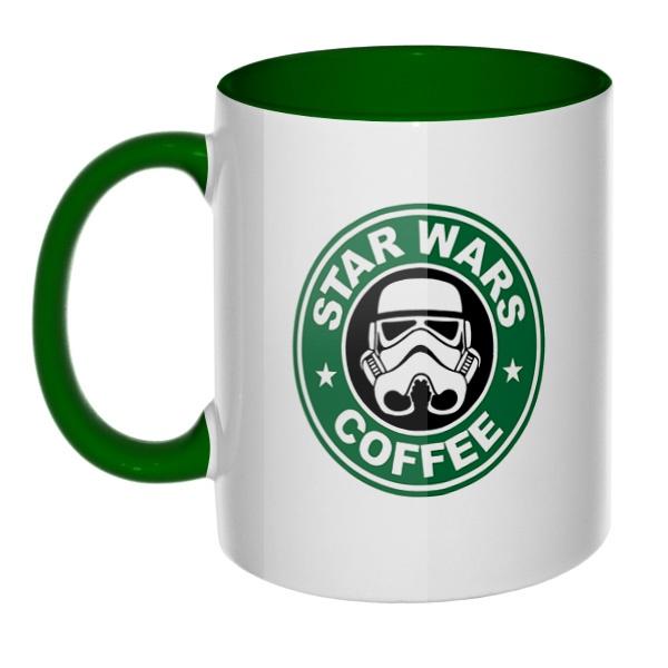 Star Wars Coffee, кружка цветная внутри и ручка