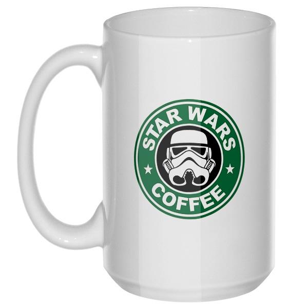 Star Wars Coffee, большая кружка с круглой ручкой
