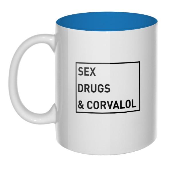 Sex, drugs and corvalol, кружка цветная внутри
