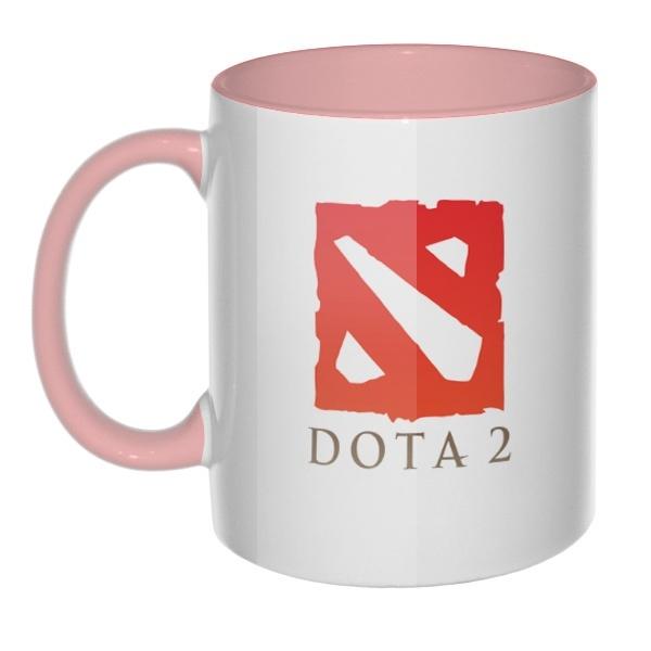Кружка Dota 2 цветная внутри и ручка