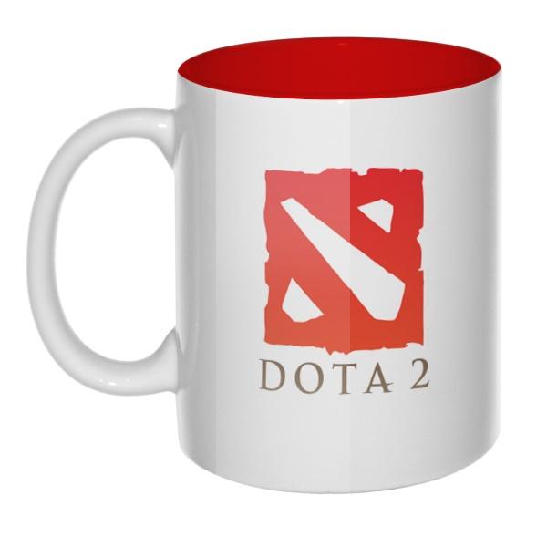 Кружка цветная внутри Dota 2